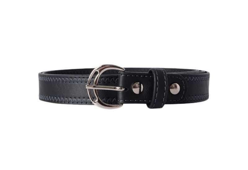 Baggit LB Clara Y G Bindas Black Stitched Narrow Belt