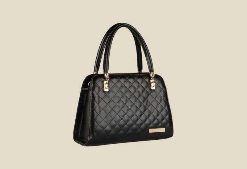 Lino Perros Black Leather Handbag