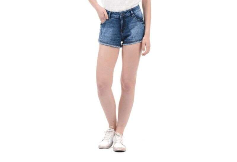 Pepe Jeans Dark Blue Distressed Shorts