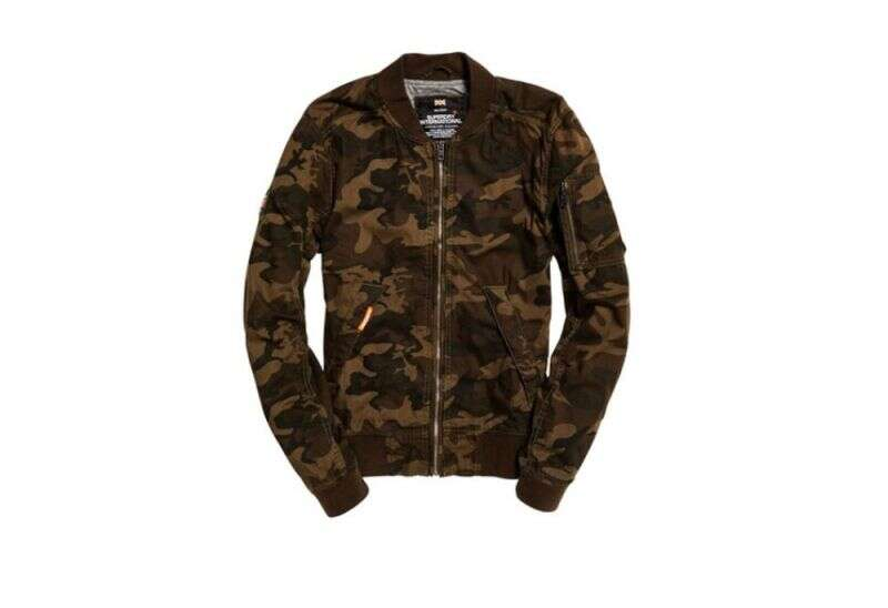 Superdry Brown Camo Print Bomber Jacket