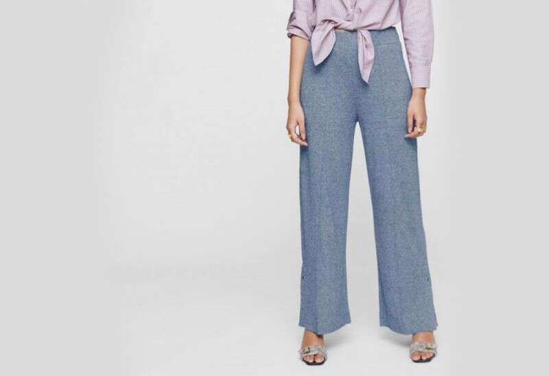 SPRUCE BLUE JERSEY RELAXED PANTS
