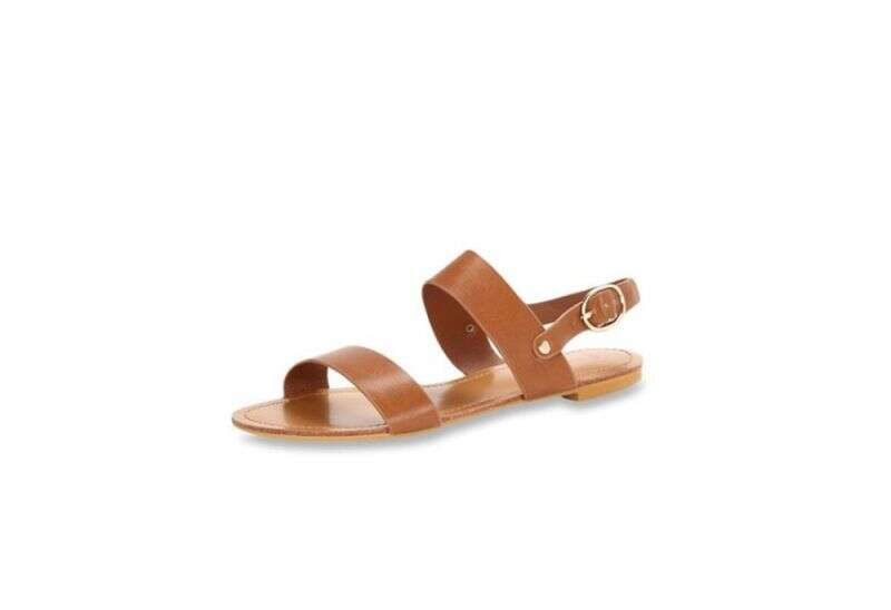 Van Heusen Tan Back Strap Sandals