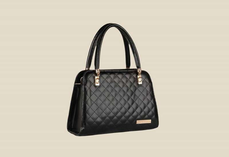 Lino Perros Black Leather Handbag