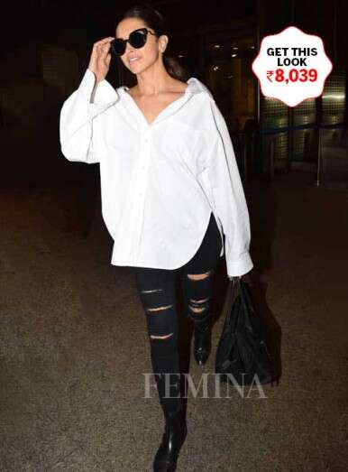 Give a glamorous spin to your basics like Deepika