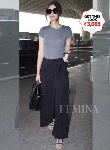 Diana Penty aces airport style with basic separates