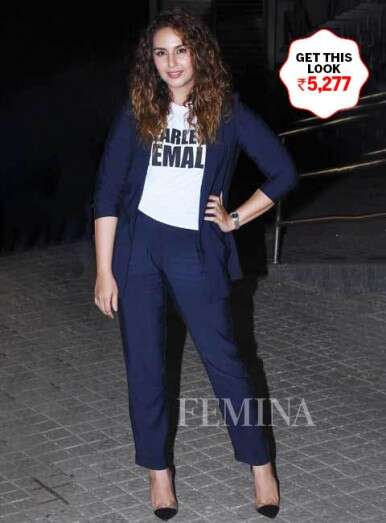 Huma Qureshi looks chic in the blue suit
