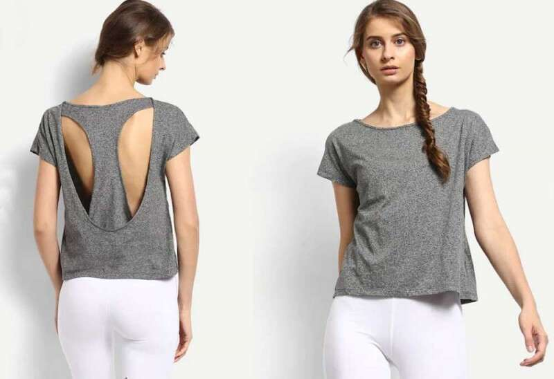 Grey Melissa Cut-Out Tee