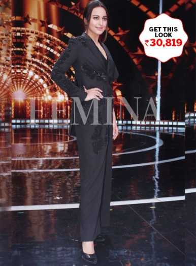 Sonakshi Sinha makes a classic statement in a pantsuit