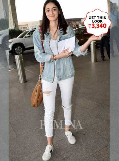 Ananya Panday shows us how to dress up white denims