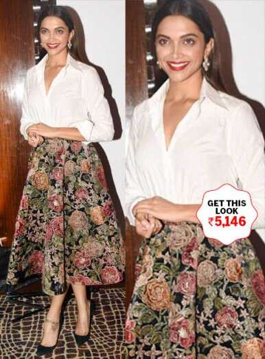 Tone down brocades with white like Deepika Padukone