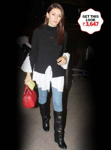 Hansika's flawless monochrome look